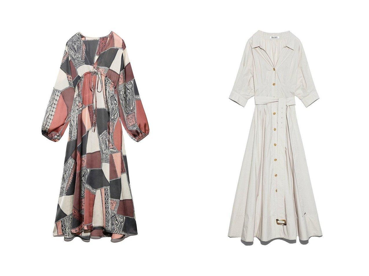 【SNIDEL/スナイデル】のSustainaコットンシャツOP&【Lily Brown/リリーブラウン】のカラーブロックワンピース ワンピース・ドレスのおすすめ!人気、レディースファッションの通販  おすすめで人気のファッション通販商品 インテリア・家具・キッズファッション・メンズファッション・レディースファッション・服の通販 founy(ファニー) https://founy.com/ ファッション Fashion レディース WOMEN ワンピース Dress マキシワンピース Maxi Dress トップス Tops Tshirt シャツ/ブラウス Shirts Blouses シャツワンピース Shirt Dresses ブロック マキシ ロング インナー エレガント スリーブ チェック 定番 人気 バランス フレア 無地 A/W 秋冬 Autumn &  Winter |ID:crp329100000004322