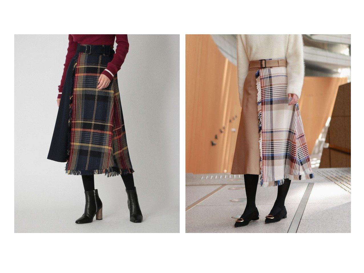 【LOVELESS/ラブレス】の【TVドラマ着用】チェックコンビ スカート おすすめ!人気、レディースファッションの通販 おすすめで人気のファッション通販商品 インテリア・家具・キッズファッション・メンズファッション・レディースファッション・服の通販 founy(ファニー) https://founy.com/ ファッション Fashion レディース WOMEN スカート Skirt Aライン/フレアスカート Flared A-Line Skirts イタリア コンビ チェック ツイード トレンド 無地 |ID:crp329100000004506