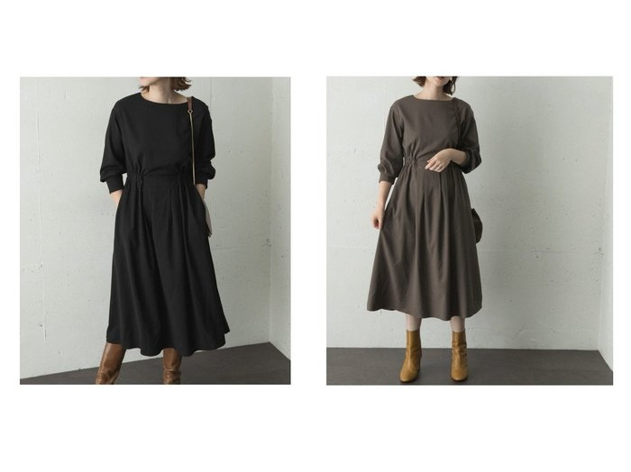 【URBAN RESEARCH ROSSO/アーバンリサーチ ロッソ】の【WEB限定】ウール混ウエストギャザーワンピース 別注・限定・コラボなど、おすすめで人気!ファッション通販 おすすめファッション通販アイテム レディースファッション・服の通販 founy(ファニー) ファッション Fashion レディース WOMEN ワンピース Dress |ID:crp329100000004563