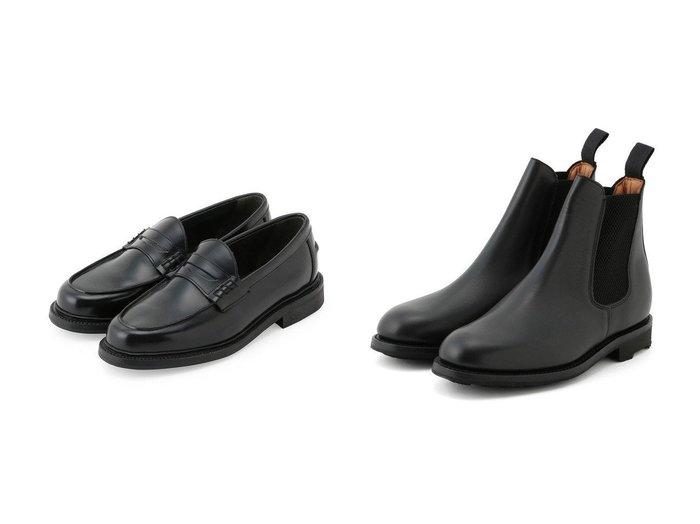 【Adam et Rope / MEN/アダムエロペ 】の【SANDERS】Exclusive side gore boots&【SANDERS for WILD LIFE TAILOR】Penny Loafer 【MEN】別注・限定・コラボなど、おすすめで人気!メンズファッション通販 おすすめファッション通販アイテム レディースファッション・服の通販 founy(ファニー) ファッション Fashion メンズ MEN シューズ・靴 Shoes Men ブーツ Boots シューズ 別注 定番 スエード フォルム |ID:crp329100000004589