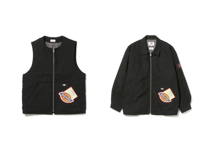 【BEAMS / MEN/ビームス】のDICKIES × VEST&DICKIES × JACKET 【MEN】別注・限定・コラボなど、おすすめで人気!メンズファッション通販 おすすめファッション通販アイテム レディースファッション・服の通販 founy(ファニー) ファッション Fashion メンズ MEN トップス Tops Tshirt Men ベスト/ジレ Gilets Vests アウター Coats Outerwear Men ブルゾン Blouson Jackets コラボ サーマル セットアップ 定番 バランス ベスト ワーク |ID:crp329100000004670