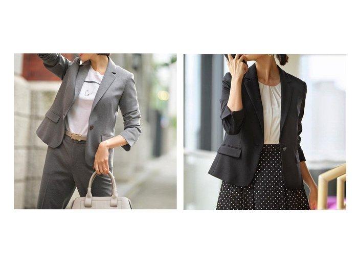 【JIYU-KU/自由区】の【Sサイズ有】360°FREE ウォッシャブルテーラード ジャケット アウターのおすすめ!人気、レディースファッションの通販 おすすめファッション通販アイテム インテリア・キッズ・メンズ・レディースファッション・服の通販 founy(ファニー) https://founy.com/ ファッション Fashion レディース WOMEN アウター Coat Outerwear ジャケット Jackets テーラードジャケット Tailored Jackets ウォッシャブル ジャケット ジャージー 雑誌 定番 人気 バランス フォルム |ID:crp329100000004723