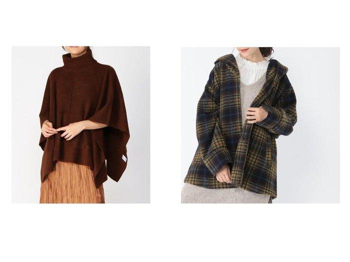 【studio CLIP/スタディオ クリップ】のスライバーチェックフードCT&【LOWRYS FARM/ローリーズファーム】の7Gニットポンチョ アウターのおすすめ!人気、レディースファッションの通販 おすすめファッション通販アイテム レディースファッション・服の通販 founy(ファニー) ファッション Fashion レディース WOMEN アウター Coat Outerwear コート Coats ジャケット Jackets ポンチョ Ponchos ジャケット ストール タートル デニム フレア ポンチョ 冬 Winter イエロー チェック ハーフ ワイド  ID:crp329100000004736