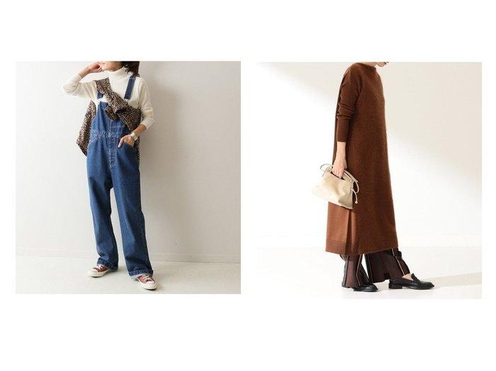 【Demi-Luxe BEAMS/デミルクス ビームス】のDemi- フロントフラッフィ ワンピース&【FRAMeWORK/フレームワーク】のデニムオーバーオール ツイカ3 ワンピース・ドレスのおすすめ!人気、レディースファッションの通販 おすすめファッション通販アイテム レディースファッション・服の通販 founy(ファニー) ファッション Fashion レディース WOMEN ワンピース Dress オールインワン ワンピース All In One Dress サロペット Salopette A/W 秋冬 Autumn & Winter インナー カットソー サロペット ジーンズ デニム フロント 長袖 |ID:crp329100000004777