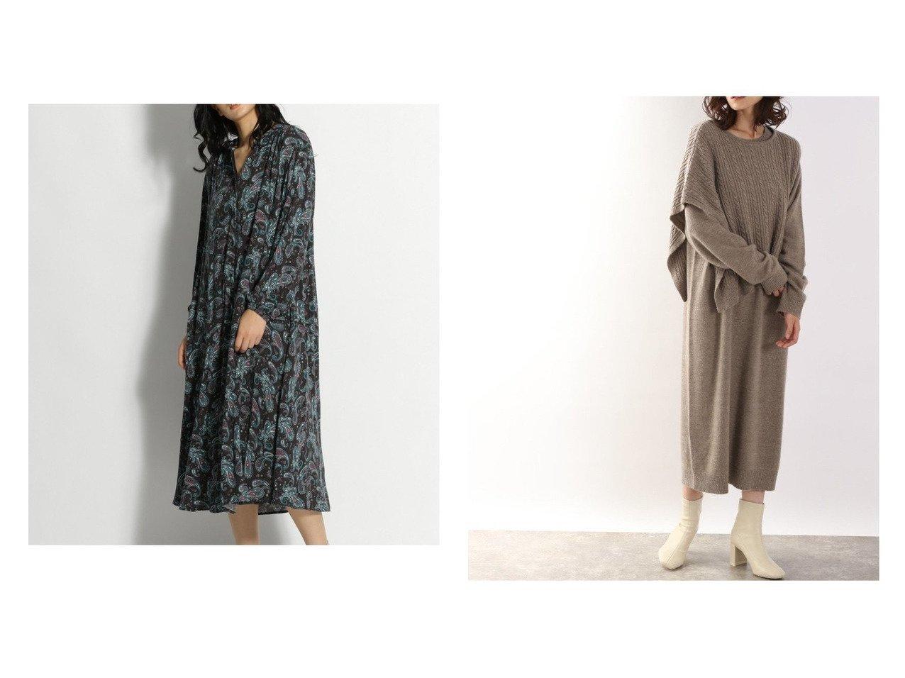 【LOWRYS FARM/ローリーズファーム】の7Gケーブルベスト2POP&【niko and…/ニコアンド】のペーズリーPTワンピース ワンピース・ドレスのおすすめ!人気、レディースファッションの通販 おすすめファッション通販アイテム インテリア・キッズ・メンズ・レディースファッション・服の通販 founy(ファニー) ファッション Fashion レディース WOMEN ワンピース Dress ニットワンピース Knit Dresses フロント プリント ペイズリー 秋 長袖 アシンメトリー シンプル トレンド ベスト ベーシック メランジ ロング ブラック系 Black ベージュ系 Beige |ID:crp329100000004782