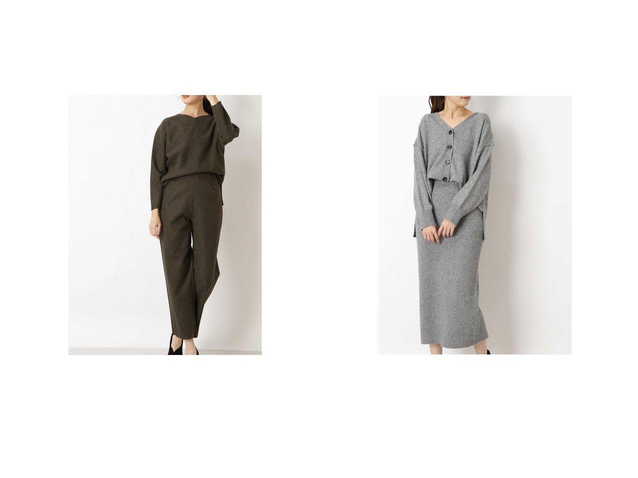 【NATURAL BEAUTY BASIC/ナチュラル ビューティー ベーシック】の圧縮ジャージカットソーセットアップ&カジュアルニットセットアップ ワンピース・ドレスのおすすめ!人気、レディースファッションの通販 おすすめファッション通販アイテム インテリア・キッズ・メンズ・レディースファッション・服の通販 founy(ファニー) ファッション Fashion レディース WOMEN セットアップ Setup アクリル ジャージー セットアップ フォルム ボトム ベージュ系 Beige グリーン系 Green グレー系 Gray |ID:crp329100000004784