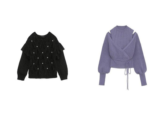 【Lily Brown/リリーブラウン】のレイヤードニットトップス&[L.B CANDY STOCK]ビジューフリルニットトップス トップス・カットソーのおすすめ!人気、レディースファッションの通販 おすすめファッション通販アイテム レディースファッション・服の通販 founy(ファニー) ファッション Fashion レディース WOMEN アクリル クラシカル スマート ビジュー フリル ミックス モヘア モヘヤ 冬 Winter |ID:crp329100000004789
