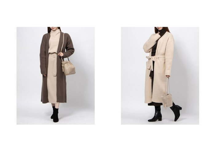 【Mila Owen/ミラオーウェン】の袖リブデザインロングガウンニットCD トップス・カットソーのおすすめ!人気、レディースファッションの通販 おすすめファッション通販アイテム レディースファッション・服の通販 founy(ファニー) ファッション Fashion レディース WOMEN |ID:crp329100000004791
