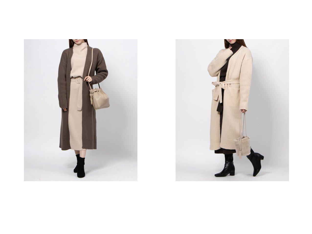 【Mila Owen/ミラオーウェン】の袖リブデザインロングガウンニットCD トップス・カットソーのおすすめ!人気、レディースファッションの通販 おすすめで人気のファッション通販商品 インテリア・家具・キッズファッション・メンズファッション・レディースファッション・服の通販 founy(ファニー) https://founy.com/ ファッション Fashion レディース WOMEN |ID:crp329100000004791