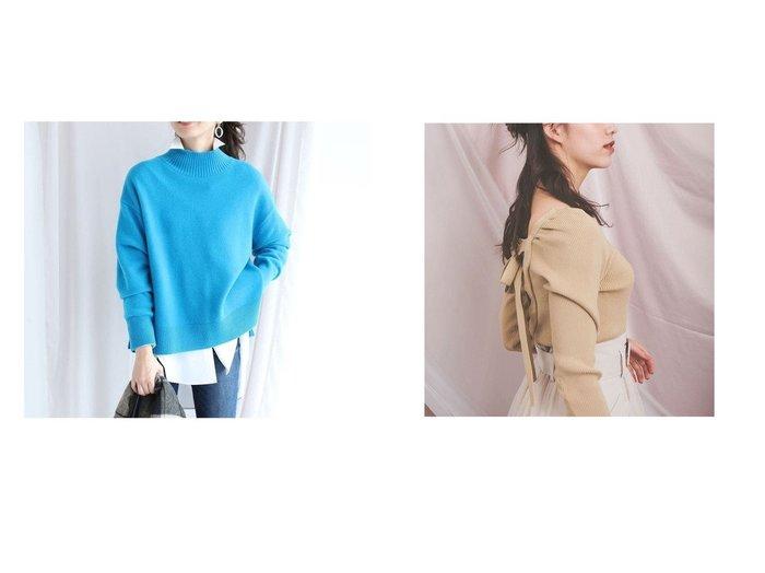 【Noela/ノエラ】のバックレースアップニット&【JUSGLITTY/ジャスグリッティー】のウールカシミヤタートルゆるニット トップス・カットソーのおすすめ!人気、レディースファッションの通販 おすすめファッション通販アイテム レディースファッション・服の通販 founy(ファニー) ファッション Fashion レディース WOMEN イエロー ボトム リボン レース |ID:crp329100000004797