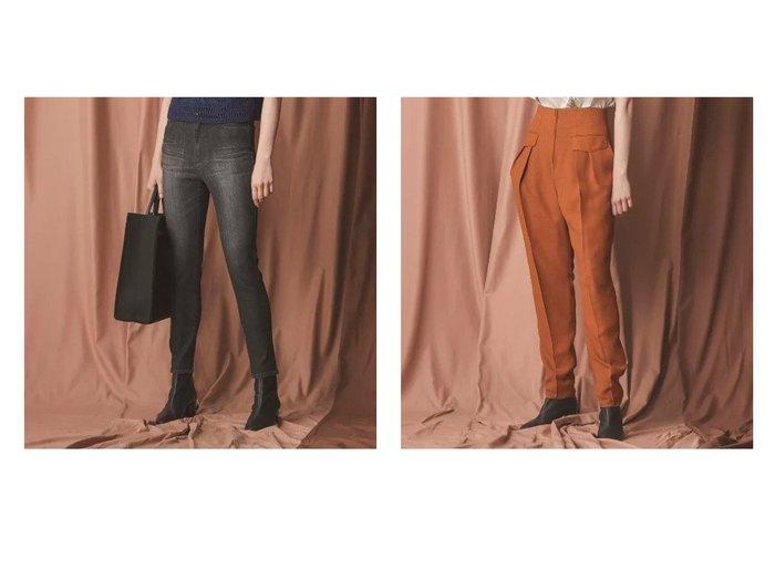【EPOCA/エポカ】のメランジクロスハイウエストパンツ&【TWENTY FOUR DENIM】ストレッチスキニーデニム パンツのおすすめ!人気、レディースファッションの通販 おすすめファッション通販アイテム レディースファッション・服の通販 founy(ファニー) ファッション Fashion レディース WOMEN パンツ Pants シルケット ストレッチ デニム バランス パターン A/W 秋冬 Autumn & Winter |ID:crp329100000004854