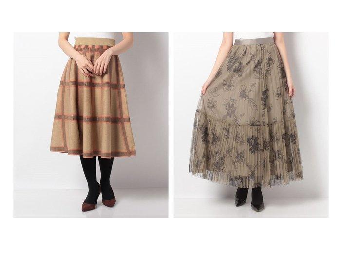 【allureville/アルアバイル】のPEチュールフラワープリントプリーツスカート&【en recre/アン レクレ】のチェックフレアスカート スカートのおすすめ!人気、レディースファッションの通販 おすすめファッション通販アイテム レディースファッション・服の通販 founy(ファニー) ファッション Fashion レディース WOMEN スカート Skirt Aライン/フレアスカート Flared A-Line Skirts プリーツスカート Pleated Skirts ギャザー クラシカル チェック フェミニン フレア ブロック エレガント プリーツ |ID:crp329100000004880
