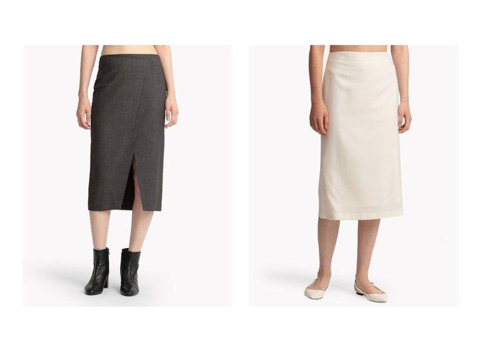 【theory/セオリー】のスカート LIGHT SAXONY 2 OVERLAP SK&【Theory Luxe/セオリーリュクス】の【セットアップ対応商品】スカート SAXONY SOFT DELLA スカートのおすすめ!人気、レディースファッションの通販 おすすめファッション通販アイテム インテリア・キッズ・メンズ・レディースファッション・服の通販 founy(ファニー) https://founy.com/ ファッション Fashion レディース WOMEN スカート Skirt セットアップ Setup スカート Skirt スーツ Suits スーツ スカート Skirt スーツセット Suit Sets ウォーム ストレッチ スリット タイトスカート ファブリック フロント ラップ クラシカル スーツ セットアップ トレンド ドレープ フォーマル ペンシル |ID:crp329100000004882