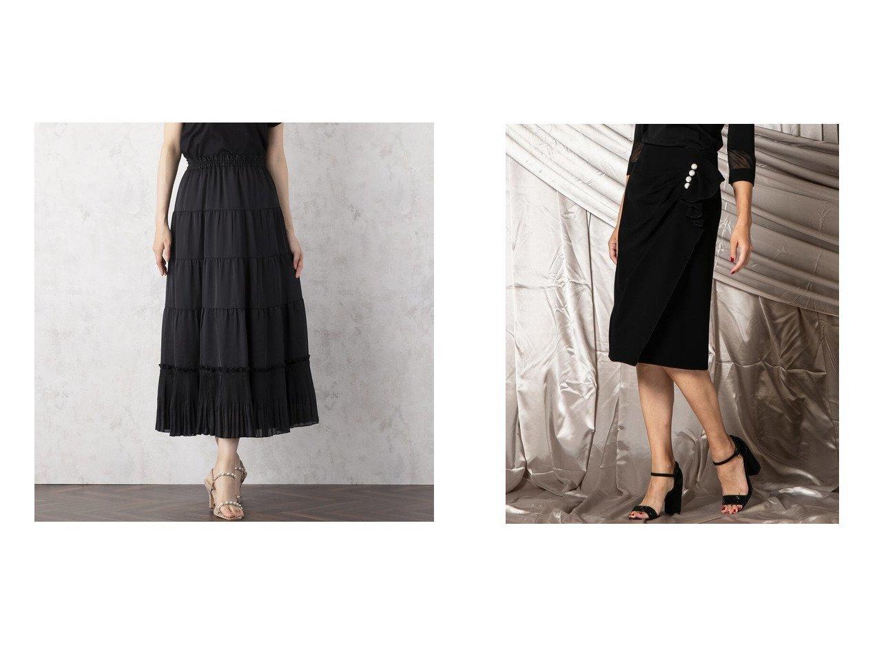 【LUSSOVIAGGIOBLU/ルッソビアッジョブルー】のパールギャザータイトスカート&【Rose Tiara/ローズティアラ】のプリーツ切替ティアードスカート スカートのおすすめ!人気、レディースファッションの通販 おすすめで人気のファッション通販商品 インテリア・家具・キッズファッション・メンズファッション・レディースファッション・服の通販 founy(ファニー) https://founy.com/ ファッション Fashion レディース WOMEN スカート Skirt ティアードスカート Tiered Skirts カットソー カーディガン ギャザー 切替 シルク ティアード ティアードスカート パターン フェミニン フリル プリント プリーツ ロング タイトスカート パール ラップ |ID:crp329100000004884