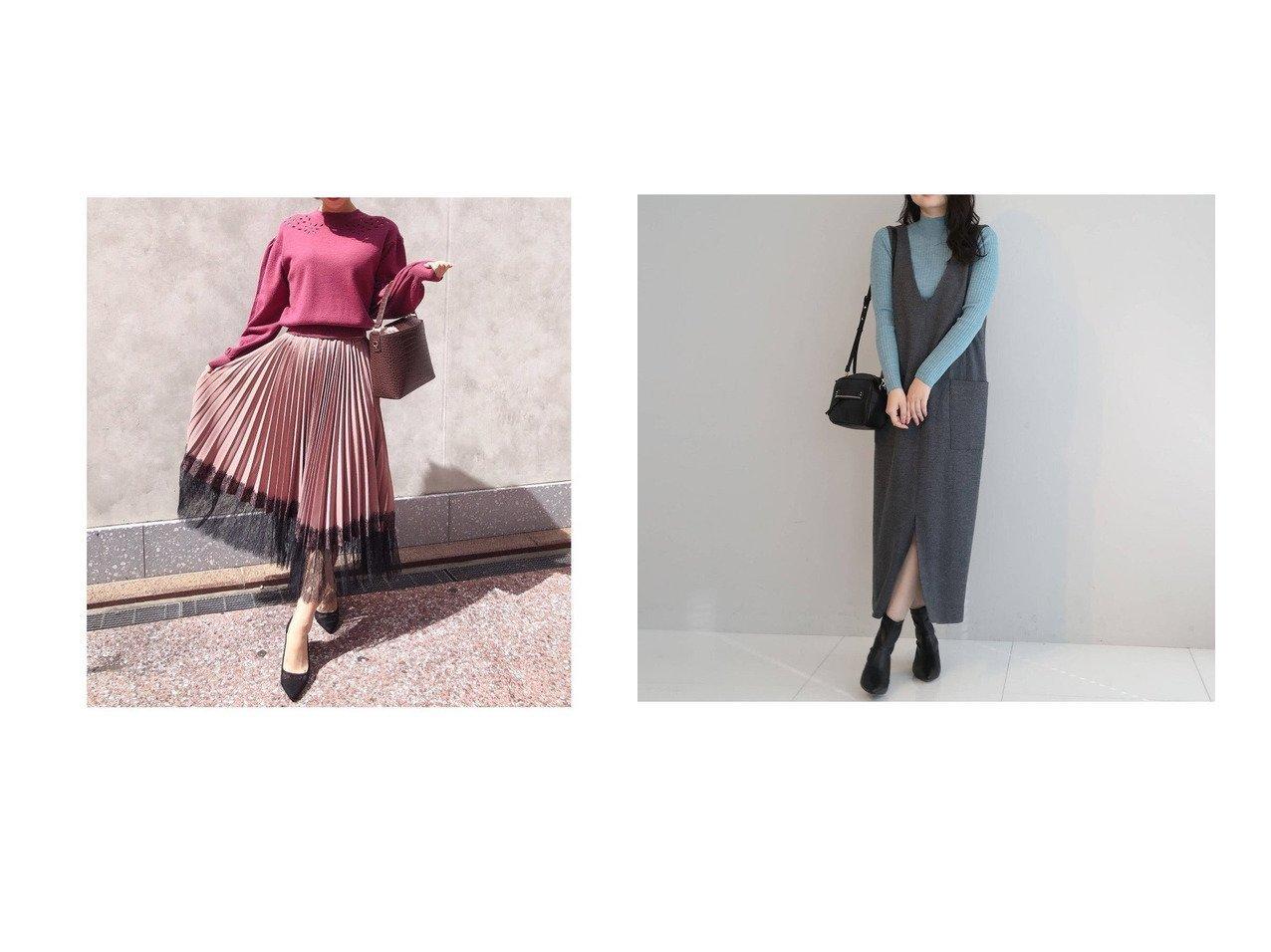【anatelier/アナトリエ】の圧縮天竺ジャンパースカート&【31 Sons de mode/トランテアン ソン ドゥ モード】の【スカート】裾レースプリーツスカート スカートのおすすめ!人気、レディースファッションの通販 おすすめで人気のファッション通販商品 インテリア・家具・キッズファッション・メンズファッション・レディースファッション・服の通販 founy(ファニー) https://founy.com/ ファッション Fashion レディース WOMEN スカート Skirt プリーツスカート Pleated Skirts エレガント 秋 今季 ジョーゼット スニーカー ダウン トレンド トレーナー パーカー プリーツ レース 冬 Winter |ID:crp329100000004899