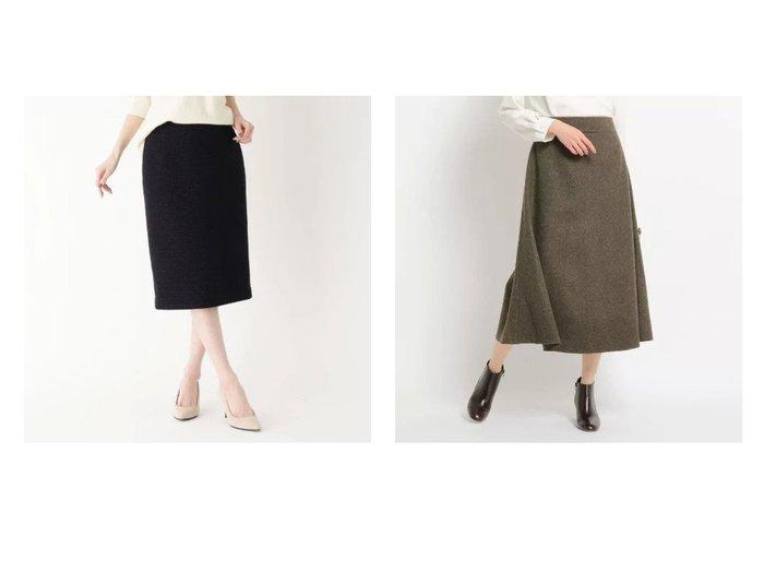 【modify/モディファイ】のサイドラインツイードタイトスカート&【Dessin/デッサン】の【S〜Lサイズあり・洗える・後ろウエストゴム】フレアスカート スカートのおすすめ!人気、レディースファッションの通販 おすすめファッション通販アイテム レディースファッション・服の通販 founy(ファニー) ファッション Fashion レディース WOMEN スカート Skirt Aライン/フレアスカート Flared A-Line Skirts ジャケット スマート スリット セットアップ タイトスカート ツイード 定番 A/W 秋冬 Autumn & Winter ジャージ フレア ポケット |ID:crp329100000004902