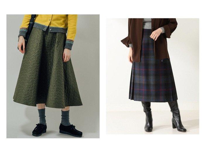 【Bshop/ビショップ】の【Cellar Door】キルティング フレアスカート WOMEN&【Demi-Luxe BEAMS/デミルクス ビームス】のCARRA CASTLE キルトスカート スカートのおすすめ!人気、レディースファッションの通販 おすすめファッション通販アイテム レディースファッション・服の通販 founy(ファニー) ファッション Fashion レディース WOMEN スカート Skirt Aライン/フレアスカート Flared A-Line Skirts プリーツスカート Pleated Skirts エレガント キルティング クラシカル グレンチェック コレクション チェック ドレープ フレア ワーク キルト ギャザー プリーツ モダン 人気 定番 |ID:crp329100000004907