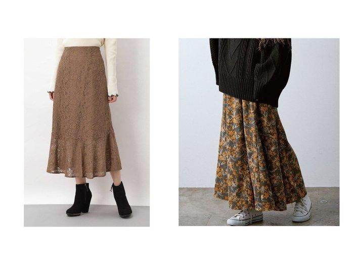 【VIS/ビス】のプリントマーメイドスカート&【FREE'S MART/フリーズマート】の《Sシリーズ対応商品》ハイウエストレースマーメードス スカートのおすすめ!人気、レディースファッションの通販 おすすめファッション通販アイテム レディースファッション・服の通販 founy(ファニー) ファッション Fashion レディース WOMEN スカート Skirt フレア マーメイド レース イラスト ジョーゼット ドレープ バランス プリント ロング |ID:crp329100000004908