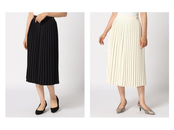 【To b. by agnes b./トゥービー バイ アニエスベー】のTo b. by agnes b.WE31 JUPE ニットプリーツスカート スカートのおすすめ!人気、レディースファッションの通販 おすすめファッション通販アイテム レディースファッション・服の通販 founy(ファニー) ファッション Fashion レディース WOMEN スカート Skirt プリーツスカート Pleated Skirts ギャザー プリーツ  ID:crp329100000004916