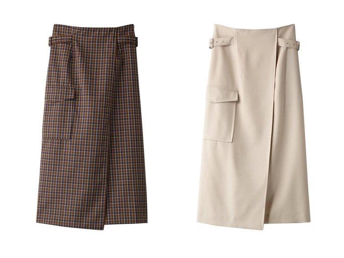 【heliopole/エリオポール】のウールサキソニーミリタリーラップスカート&ウールサキソニーミリタリーラップスカート スカートのおすすめ!人気、レディースファッションの通販 おすすめファッション通販アイテム レディースファッション・服の通販 founy(ファニー) ファッション Fashion レディース WOMEN スカート Skirt ロングスカート Long Skirt チェック ラップ ロング |ID:crp329100000004921