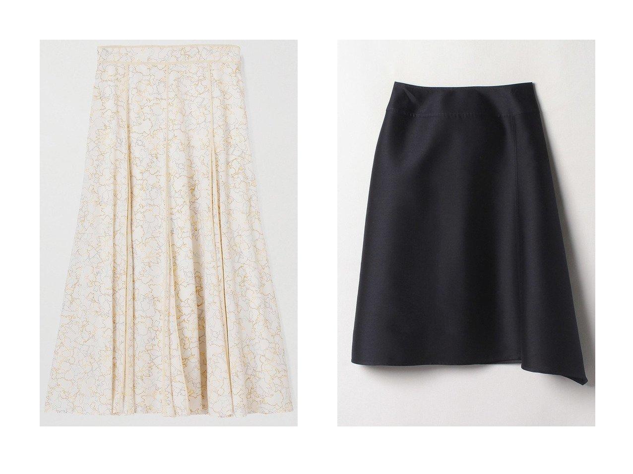 【ANAYI/アナイ】のシルエットモチーフPTフレアスカート&シルクコンツイルアシメスカート スカートのおすすめ!人気、レディースファッションの通販 おすすめファッション通販アイテム インテリア・キッズ・メンズ・レディースファッション・服の通販 founy(ファニー) ファッション Fashion レディース WOMEN ワンピース Dress スカート Skirt Aライン/フレアスカート Flared A-Line Skirts とろみ イエロー セットアップ ツイル パウダー フォルム フレア プリント モチーフ ロング 春 シルク イエロー系 Yellow ホワイト系 White ブルー系 Blue |ID:crp329100000004923