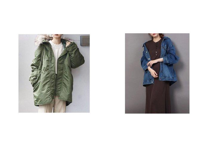 【Mila Owen/ミラオーウェン】のビッグカバーオール風Gジャン&【UNGRID/アングリッド】のUngrid N-3Bフライトジャケット アウターのおすすめ!人気、レディースファッションの通販 おすすめファッション通販アイテム レディースファッション・服の通販 founy(ファニー) ファッション Fashion レディース WOMEN アウター Coat Outerwear ジャケット Jackets アクリル ジャケット バランス デニム トレンド フェミニン リネン ワイド 今季  ID:crp329100000004977