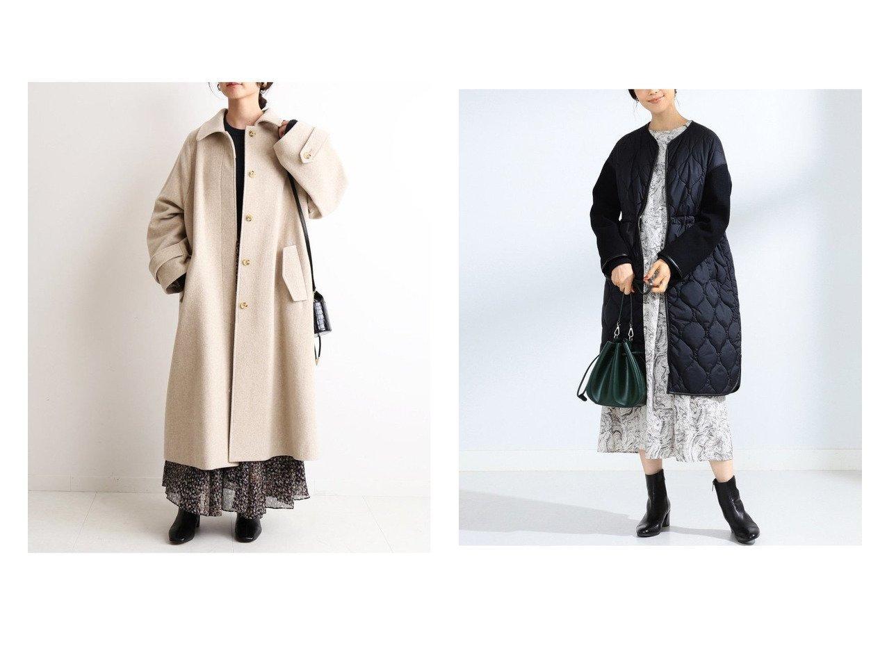 【SLOBE IENA/スローブ イエナ】のSUPER100 ステンカラーコート&【Ray BEAMS/レイ ビームス】の袖キリカエ キルティング コート アウターのおすすめ!人気、レディースファッションの通販 おすすめファッション通販アイテム インテリア・キッズ・メンズ・レディースファッション・服の通販 founy(ファニー) ファッション Fashion レディース WOMEN アウター Coat Outerwear コート Coats ジャケット Jackets ジャケット ストライプ 定番 バランス フェミニン A/W 秋冬 Autumn & Winter キルティング スウェット スリット パイピング 冬 Winter グレー系 Gray ブラック系 Black ベージュ系 Beige |ID:crp329100000004988