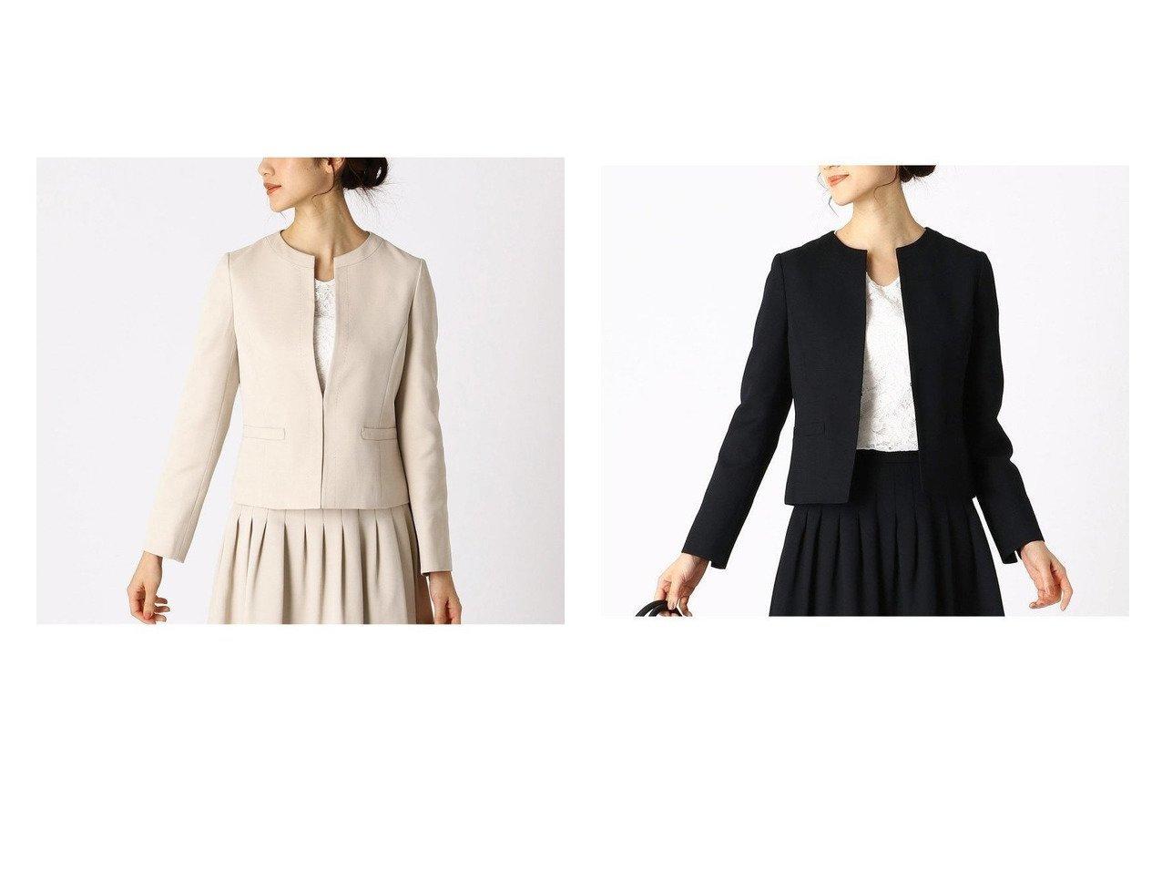 【COMME CA ISM/コムサイズム】のノーカラージャケット アウターのおすすめ!人気、レディースファッションの通販 おすすめファッション通販アイテム インテリア・キッズ・メンズ・レディースファッション・服の通販 founy(ファニー) ファッション Fashion レディース WOMEN アウター Coat Outerwear ジャケット Jackets ノーカラージャケット No Collar Leather Jackets スーツ Suits スーツ ジャケット Jacket スーツセット Suit Sets ジャケット スーツ セットアップ ハンド フォーマル ベージュ系 Beige ブルー系 Blue  ID:crp329100000004998