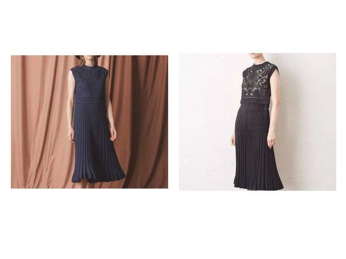 【EPOCA/エポカ】のべリスニットレースドレス ワンピース・ドレスのおすすめ!人気、レディースファッションの通販  おすすめファッション通販アイテム レディースファッション・服の通販 founy(ファニー) ファッション Fashion レディース WOMEN ワンピース Dress ドレス Party Dresses ストレッチ ドレス フォーマル |ID:crp329100000005020