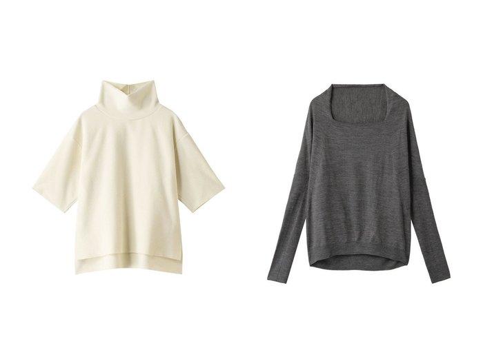【mizuiro ind/ミズイロ インド】のスクエアネックプルオーバー&ハイネックプルオーバー トップス・カットソーのおすすめ!人気、レディースファッションの通販  おすすめファッション通販アイテム レディースファッション・服の通販 founy(ファニー) ファッション Fashion レディース WOMEN トップス Tops Tshirt シャツ/ブラウス Shirts Blouses ロング / Tシャツ T-Shirts プルオーバー Pullover カットソー Cut and Sewn ニット Knit Tops ショート シンプル スリーブ ハイネック 半袖 |ID:crp329100000005046
