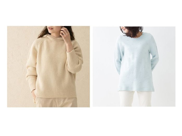 【CARA OCRUZ/キャラオクルス】のロゴジャカードチュニックニット&【kagure/かぐれ】のTICCA フードプルオーバー トップス・カットソーのおすすめ!人気、レディースファッションの通販  おすすめファッション通販アイテム レディースファッション・服の通販 founy(ファニー) ファッション Fashion レディース WOMEN トップス Tops Tshirt ニット Knit Tops プルオーバー Pullover スウェット スタンダード セーター ベーシック ポケット ミドル ワーク シンプル ジャカード スリーブ チュニック フェミニン リラックス |ID:crp329100000005058