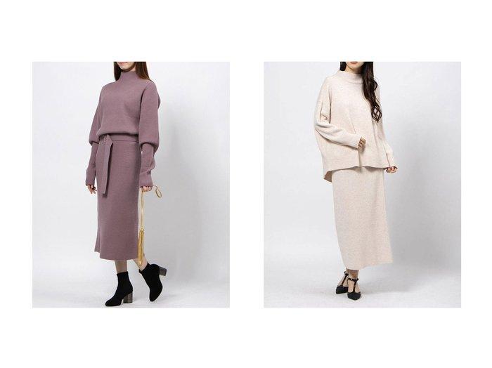 【Mila Owen/ミラオーウェン】のハイネックニットストレートSET&【Mystrada/マイストラーダ】のバックスリットニットアップ トップス・カットソーのおすすめ!人気、レディースファッションの通販  おすすめファッション通販アイテム レディースファッション・服の通販 founy(ファニー) ファッション Fashion レディース WOMEN トップス Tops Tshirt ニット Knit Tops ストレート スマート セットアップ 人気 ハイネック ボトルネック ロング 冬 Winter |ID:crp329100000005119