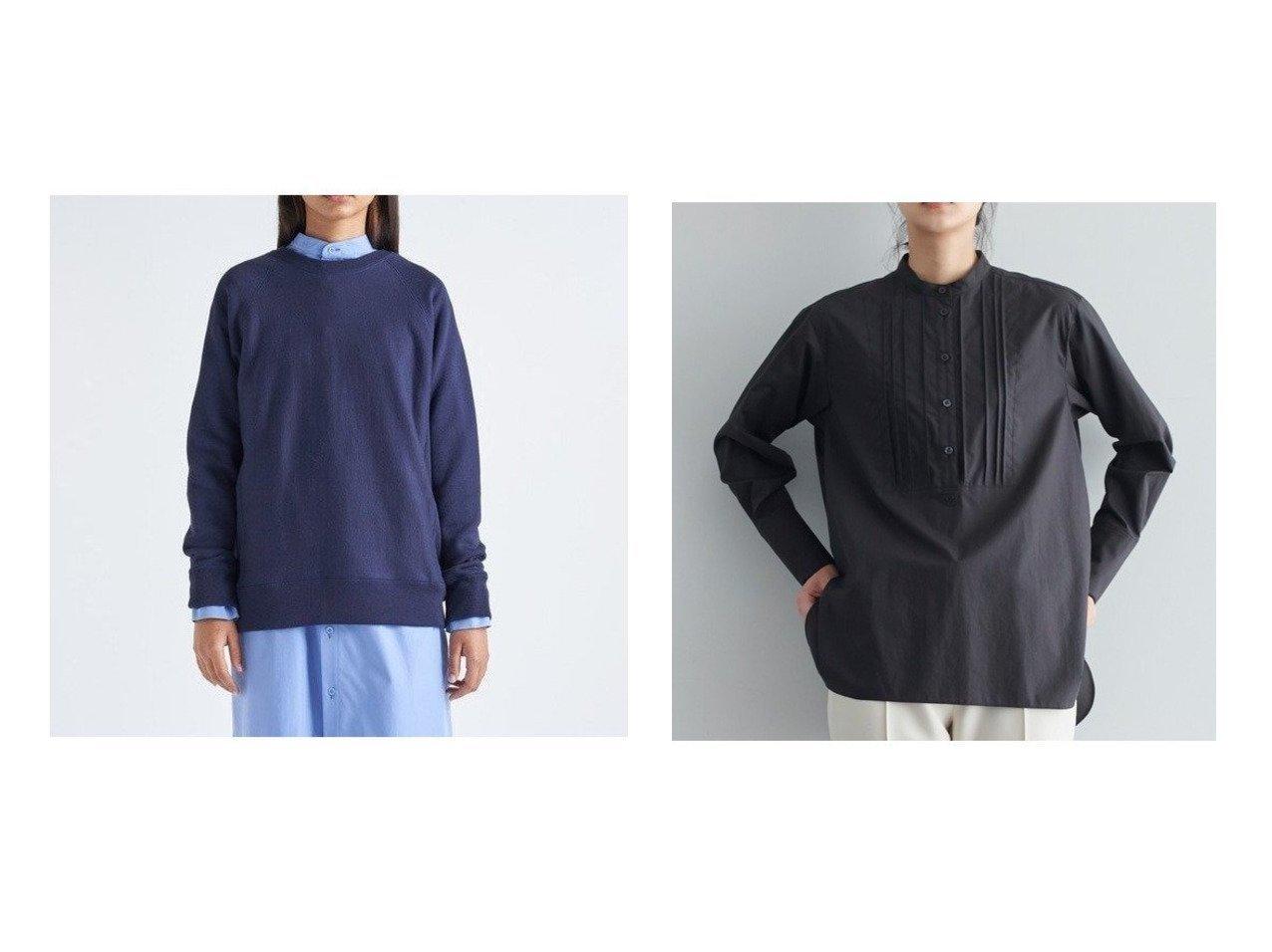 【JOSEPH/ジョゼフ】の【JOSEPH STUDIO・洗える】コットンシャツ ブラウス&【ATON/エイトン】のクルーネックプルオーバー(UNISEX) トップス・カットソーのおすすめ!人気、レディースファッションの通販  おすすめで人気のファッション通販商品 インテリア・家具・キッズファッション・メンズファッション・レディースファッション・服の通販 founy(ファニー) https://founy.com/ ファッション Fashion レディース WOMEN トップス Tops Tshirt プルオーバー Pullover シャツ/ブラウス Shirts Blouses 吸水 シルケット トライアングル UNISEX インナー コンパクト タイプライター フェミニン フレア ボトム ラウンド |ID:crp329100000005136