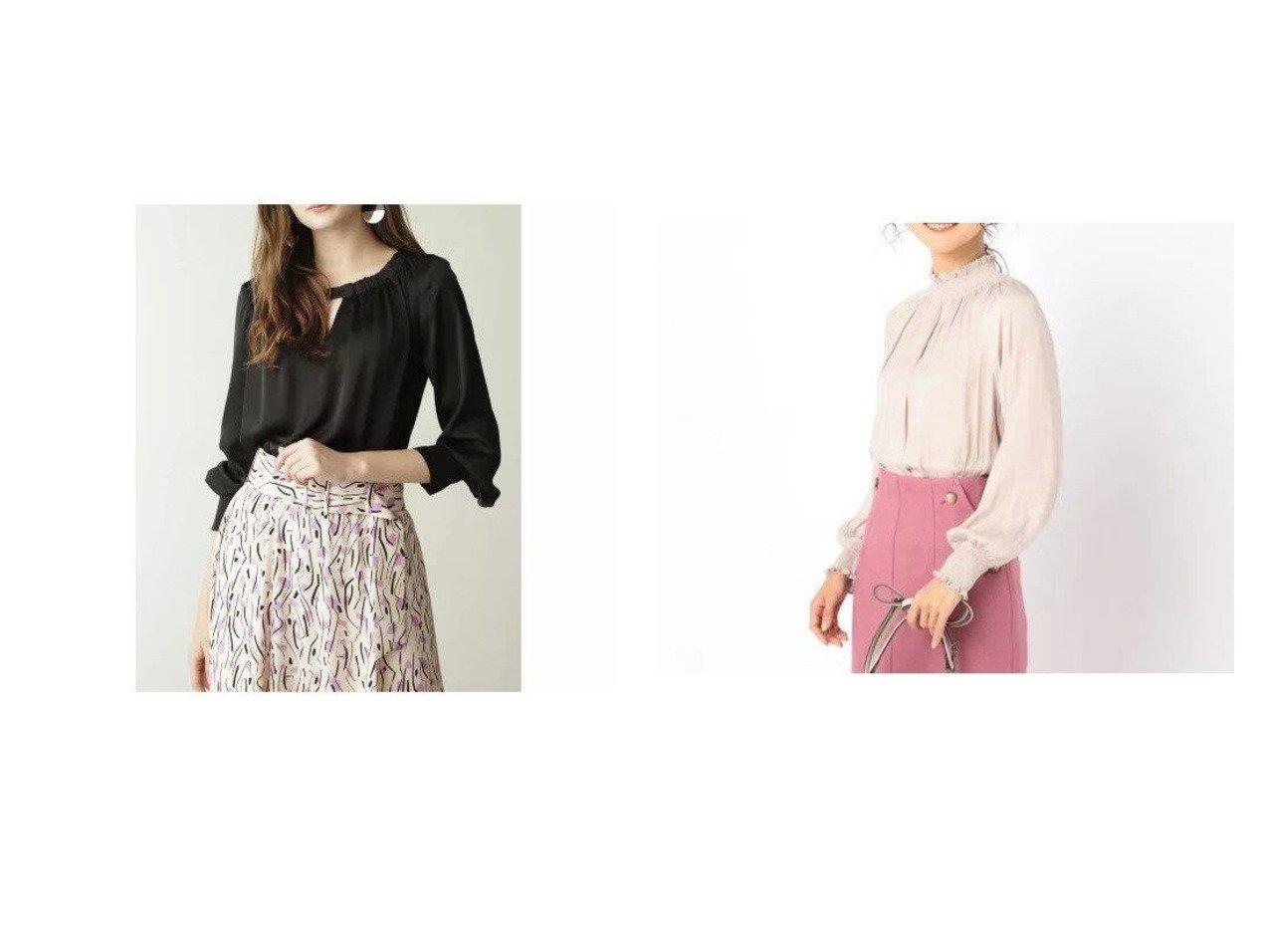 【Pinky&Dianne/ピンキーアンドダイアン】のサテンバックリボンブラウス&【NOLLEY'S/ノーリーズ】のピーチ割繊シャーリングブラウス トップス・カットソーのおすすめ!人気、レディースファッションの通販  おすすめで人気のファッション通販商品 インテリア・家具・キッズファッション・メンズファッション・レディースファッション・服の通販 founy(ファニー) https://founy.com/ ファッション Fashion レディース WOMEN トップス Tops Tshirt シャツ/ブラウス Shirts Blouses ギャザー サテン なめらか クラシカル シャーリング ドレープ ピーチ 秋 |ID:crp329100000005146