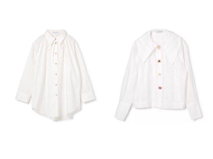 【REJINA PYO/レジーナピョウ】のASHLEY SHIRT&ELLIOT SHIRT トップス・カットソーのおすすめ!人気、レディースファッションの通販  おすすめファッション通販アイテム レディースファッション・服の通販 founy(ファニー) ファッション Fashion レディース WOMEN トップス Tops Tshirt シャツ/ブラウス Shirts Blouses ロング / Tシャツ T-Shirts ギャザー ドレープ フォルム リボン 長袖 |ID:crp329100000005151