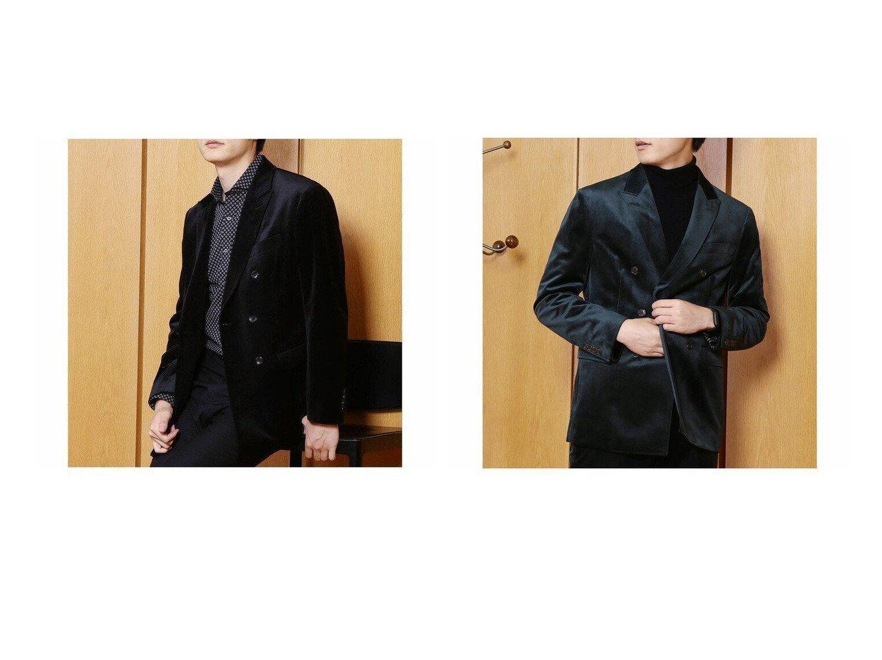 【CROWDED CLOSET / MEN/クラウデッド クローゼット】のコーデュロイベルベットダブルジャケット 【MEN】男性のおすすめ!人気、メンズファッションの通販 おすすめで人気のファッション通販商品 インテリア・家具・キッズファッション・メンズファッション・レディースファッション・服の通販 founy(ファニー) https://founy.com/ ファッション Fashion メンズ MEN アウター Coats Outerwear Men インナー コーデュロイ ジャケット ジャージ ストレッチ セットアップ ダブル フォーマル ベスト ベルベット |ID:crp329100000005237