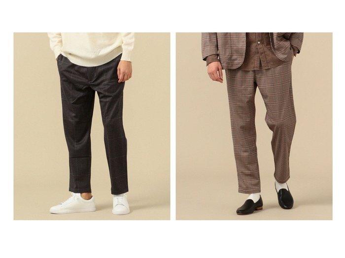 【SHIPS / MEN/シップス】のSHIPS セットアップ対応 SYNTHETIC WOOL ウォッシャブル イージーパンツ 【MEN】男性のおすすめ!人気、メンズファッションの通販 おすすめ人気トレンドファッション通販アイテム インテリア・キッズ・メンズ・レディースファッション・服の通販 founy(ファニー) https://founy.com/ ファッション Fashion メンズ MEN ボトムス Bottoms Men セットアップ Setup Men ボトムス Bottoms ウォッシャブル カットソー 軽量 ストレッチ スピンドル セットアップ チェック テーパード プリント |ID:crp329100000005238