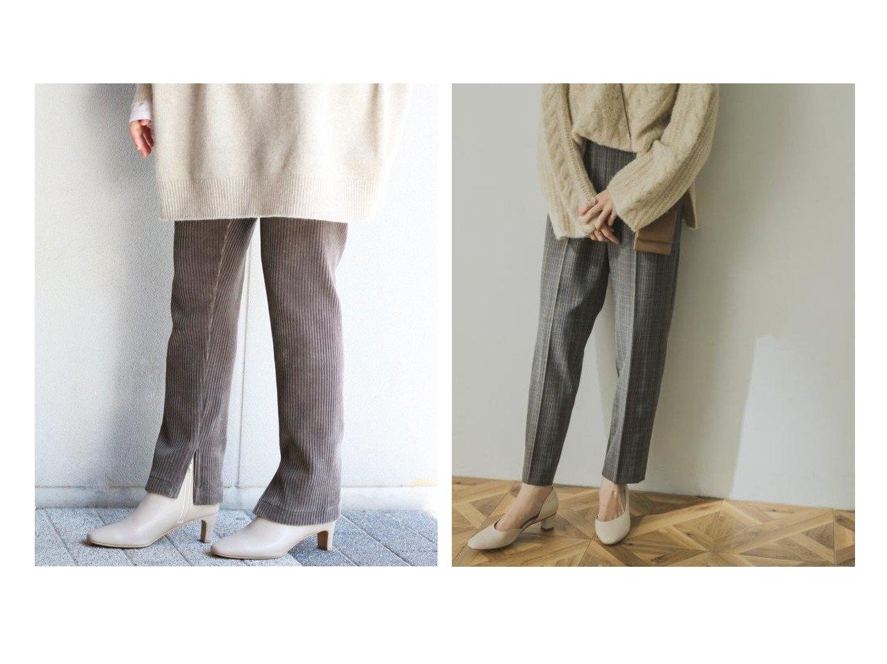 【URBAN RESEARCH/アーバンリサーチ】の裏起毛イージーチェックパンツ&【IENA/イエナ】の《追加2》コーデュロイジャージパンツ パンツのおすすめ!人気、レディースファッションの通販 おすすめファッション通販アイテム インテリア・キッズ・メンズ・レディースファッション・服の通販 founy(ファニー) ファッション Fashion レディース WOMEN パンツ Pants A/W 秋冬 Autumn & Winter コーデュロイ ジャージ ビッグ 人気 スタンダード ストレッチ チェック ポケット 防寒 グレー系 Gray ブラック系 Black |ID:crp329100000005278