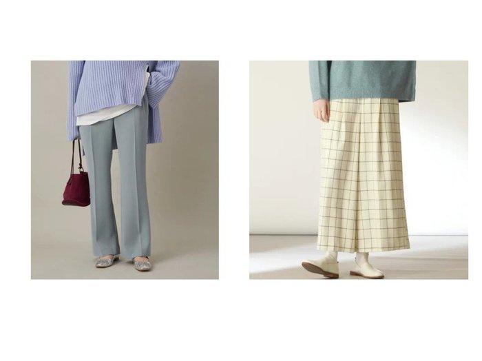 【Pao de lo/パオデロ】のウィンドペンチェックワイドパンツ&【Adam et Rope/アダム エ ロペ】のフレアーイージーパンツ パンツのおすすめ!人気、レディースファッションの通販 おすすめファッション通販アイテム レディースファッション・服の通販 founy(ファニー) ファッション Fashion レディース WOMEN パンツ Pants センター ツイル ポケット |ID:crp329100000005283