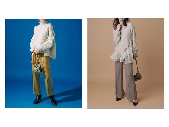 【FRAY I.D/フレイ アイディー】のバックベンツフレアパンツ&【CELFORD/セルフォード】のサテンワイドパンツ パンツのおすすめ!人気、レディースファッションの通販 おすすめファッション通販アイテム インテリア・キッズ・メンズ・レディースファッション・服の通販 founy(ファニー) https://founy.com/ ファッション Fashion レディース WOMEN パンツ Pants イエロー ウォッシャブル サテン ジーンズ ワイド 冬 Winter A/W 秋冬 Autumn & Winter ショート センター ソックス フレア  ID:crp329100000005291