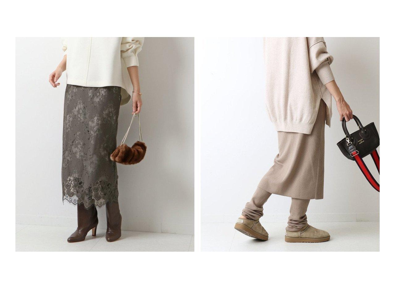 【FRAMeWORK/フレームワーク】のレギンス付きスカート2&【Spick & Span/スピック&スパン】の≪追加≫ラッセルレーススカート8 スカートのおすすめ!人気、レディースファッションの通販 おすすめで人気のファッション通販商品 インテリア・家具・キッズファッション・メンズファッション・レディースファッション・服の通販 founy(ファニー) https://founy.com/ ファッション Fashion レディース WOMEN スカート Skirt Aライン/フレアスカート Flared A-Line Skirts レギンス Leggings A/W 秋冬 Autumn &  Winter ギャザー フレア ラッセル シンプル ボトム レギンス 冬 Winter  ID:crp329100000005306