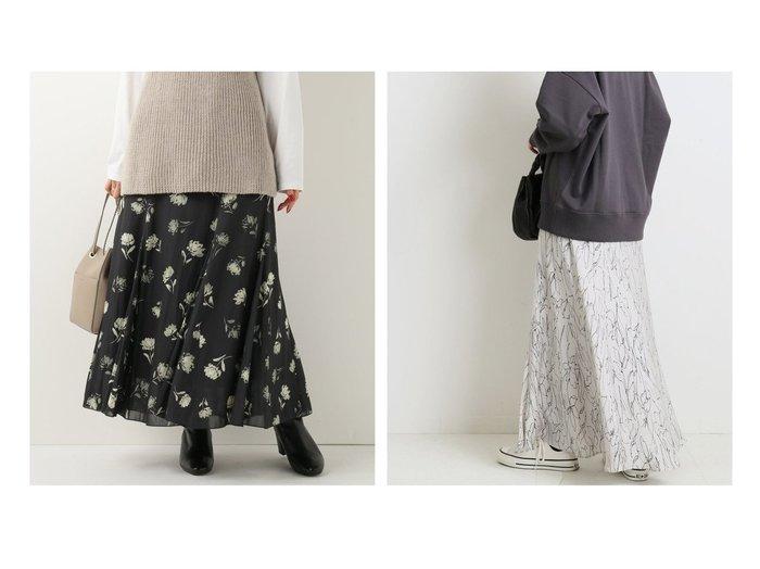 【IENA/イエナ】のランダムフラワー サテンフレアスカート&カッセンデシンパネルスカート スカートのおすすめ!人気、レディースファッションの通販 おすすめファッション通販アイテム インテリア・キッズ・メンズ・レディースファッション・服の通販 founy(ファニー) https://founy.com/ ファッション Fashion レディース WOMEN スカート Skirt Aライン/フレアスカート Flared A-Line Skirts A/W 秋冬 Autumn & Winter フラワー フレア プリント マキシ 無地 モノトーン ランダム |ID:crp329100000005310