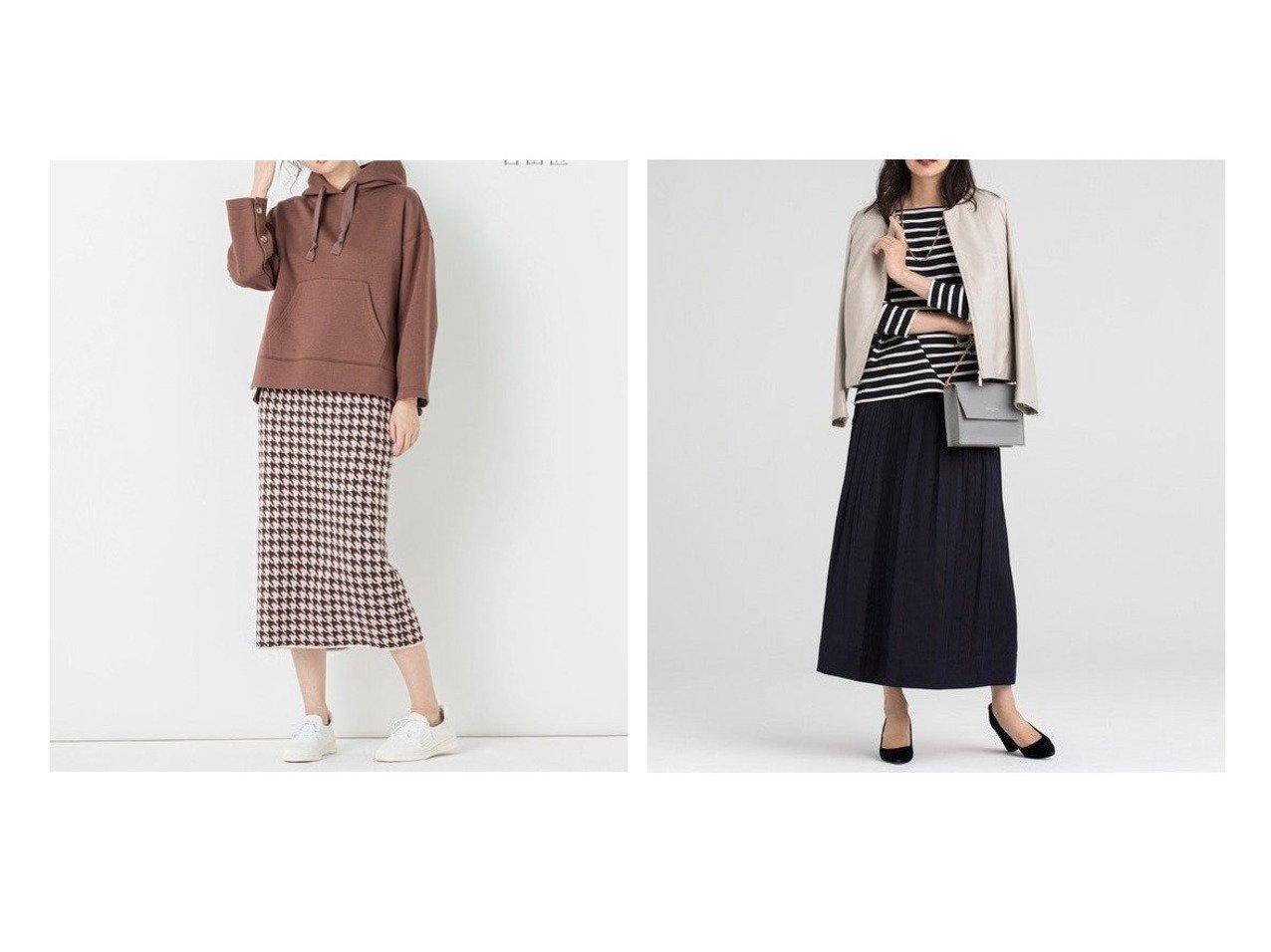 【JIYU-KU/自由区】の【Sサイズ有】AOBUN CUPRA ジャガードリバーシブルスカート&【UNFILO】HOUNDS TOOTH CHECK タイトスカート スカートのおすすめ!人気、レディースファッションの通販 おすすめで人気のファッション通販商品 インテリア・家具・キッズファッション・メンズファッション・レディースファッション・服の通販 founy(ファニー) https://founy.com/ ファッション Fashion レディース WOMEN スカート Skirt 秋 グラフィック 抗菌 スリット タイトスカート フィット キュプラ シャンブレー シャーリング 雑誌 チェック トレンド ドレープ プリーツ ミドル 無地 ランダム リバーシブル  ID:crp329100000005312