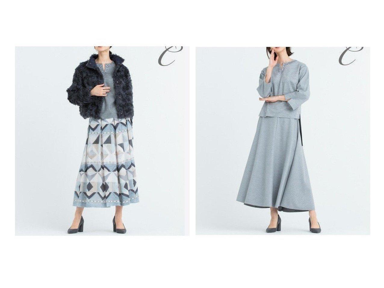 【JIYU-KU/自由区】の【Class Lounge】PAVEプリント スカート&【Class Lounge】AQUA LEGEND スカート スカートのおすすめ!人気、レディースファッションの通販 おすすめで人気のファッション通販商品 インテリア・家具・キッズファッション・メンズファッション・レディースファッション・服の通販 founy(ファニー) https://founy.com/ ファッション Fashion レディース WOMEN スカート Skirt コレクション フォルム プリント ロング A/W 秋冬 Autumn &  Winter エレガント ショート ジャージ セットアップ フロント  ID:crp329100000005315