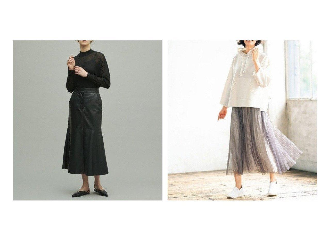 【uncrave/アンクレイヴ】の【追加生産】エコレザー マーメイドスカート&【JIYU-KU/自由区】の【UNFILO】チュール&サテン リバーシブルスカート スカートのおすすめ!人気、レディースファッションの通販 おすすめで人気のファッション通販商品 インテリア・家具・キッズファッション・メンズファッション・レディースファッション・服の通販 founy(ファニー) https://founy.com/ ファッション Fashion レディース WOMEN スカート Skirt ストレッチ フェイクレザー マーメイド リアル オーガンジー ギャザー サテン チュール フィット プリーツ  ID:crp329100000005316