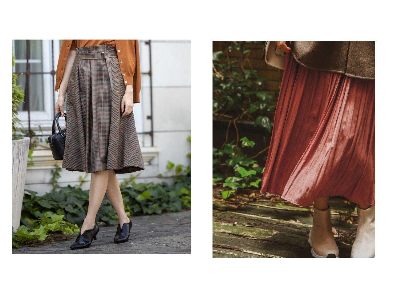 【BAYFLOW/ベイフロー】のプリーツロングSK&【KUMIKYOKU/組曲】の【洗える】W 2wayストレッチ タックスカート スカートのおすすめ!人気、レディースファッションの通販 おすすめで人気のファッション通販商品 インテリア・家具・キッズファッション・メンズファッション・レディースファッション・服の通販 founy(ファニー) https://founy.com/ ファッション Fashion レディース WOMEN スカート Skirt プリーツスカート Pleated Skirts A/W 秋冬 Autumn &  Winter クラシカル ストレッチ チェック ハーフ バイアス ベーシック 無地 秋  ID:crp329100000005318
