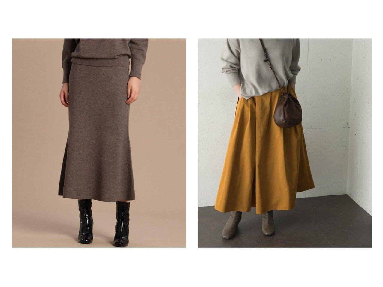 【URBAN RESEARCH ROSSO/アーバンリサーチ ロッソ】のカラーマキシタックスカート&【INED/イネド】の《YVON》マーメイドニットスカート スカートのおすすめ!人気、レディースファッションの通販 おすすめで人気のファッション通販商品 インテリア・家具・キッズファッション・メンズファッション・レディースファッション・服の通販 founy(ファニー) https://founy.com/ ファッション Fashion レディース WOMEN スカート Skirt ロングスカート Long Skirt シンプル スタンダード マキシ A/W 秋冬 Autumn &  Winter カシミヤ セットアップ ハイネック フレア マーメイド ロング  ID:crp329100000005319