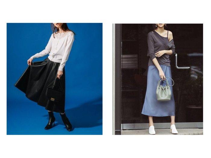 【CELFORD/セルフォード】のフェイクレザータックフレアスカート&【FRAY I.D/フレイ アイディー】のサテンタックナロースカート スカートのおすすめ!人気、レディースファッションの通販 おすすめファッション通販アイテム インテリア・キッズ・メンズ・レディースファッション・服の通販 founy(ファニー) https://founy.com/ ファッション Fashion レディース WOMEN スカート Skirt ミニスカート Mini Skirts Aライン/フレアスカート Flared A-Line Skirts エナメル エレガント トレンド フェイクレザー フェミニン フレア ミニスカート 今季 A/W 秋冬 Autumn & Winter 11月号 サテン  ID:crp329100000005321