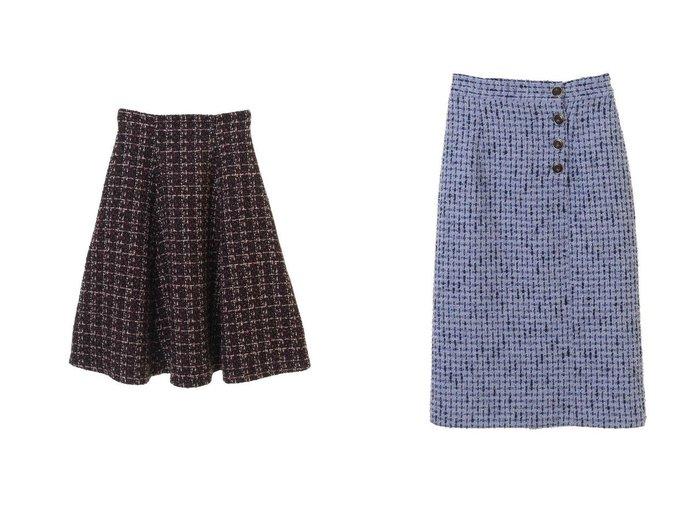 【31 Sons de mode/トランテアン ソン ドゥ モード】のツイードフレアスカート&フロント釦ツイードタイトスカート スカートのおすすめ!人気、レディースファッションの通販 おすすめファッション通販アイテム レディースファッション・服の通販 founy(ファニー) ファッション Fashion レディース WOMEN スカート Skirt Aライン/フレアスカート Flared A-Line Skirts フィット 冬 Winter センター ツイード フロント |ID:crp329100000005328