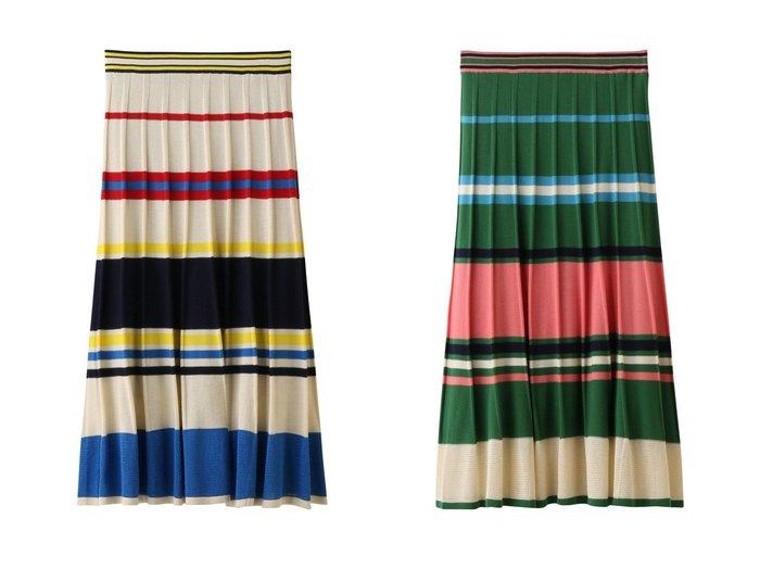 【MUVEIL/ミュベール】のマルチボーダーニットスカート スカートのおすすめ!人気、レディースファッションの通販 おすすめファッション通販アイテム レディースファッション・服の通販 founy(ファニー) ファッション Fashion レディース WOMEN スカート Skirt ロングスカート Long Skirt なめらか フィット ボーダー ロング |ID:crp329100000005329